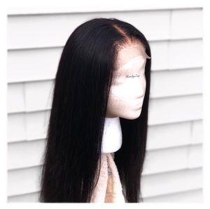 100% human hair wig 4x4 Lace Closure